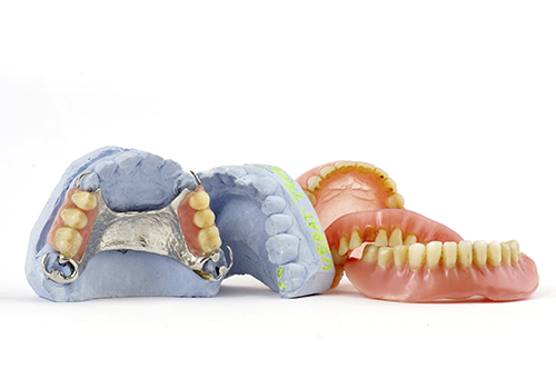 A set of partial dentures from Dental Haven.